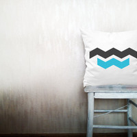 Chevron pillow decorative throw pillow geometric pillow cover white cotton toss arrow pillow case rustic bedding bedroom set 18x18 inches