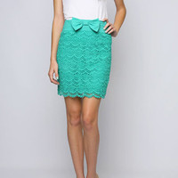 Keep Calm &amp; Wear Bows Skirt in Green - $39.95 : Indie, Retro, Party, Vintage, Plus Size, Convertible, Cocktail Dresses in Canada