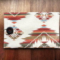 "Ikat - MacBook Air 11"" sleeve - Tribal - Earth colors - Natural materials - Gobelin fabric - Made to order"