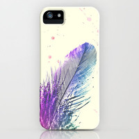 *** Watercolour Glitter  Feather Splash ***  iPhone Case by Mnika  Strigel for iphone 5, 4, 4s, 3g, 3gs, and iPod touch !!!!