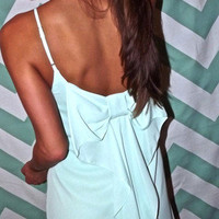 Mint Bow-Back Dress | The Rage