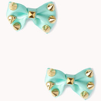Spiked Bow Hair Clip Set | FOREVER 21 - 1051251728