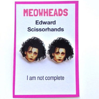 Edward Scissorhands // Johnny Depp //  Tim Burton earrings
