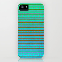 Aztec Mint Purple Aqua iPhone Case by M Studio