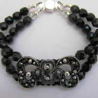 Black Double Strand Bracelet