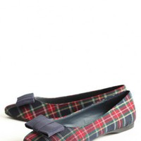 beauty spot tartan flats at ShopRuche.com