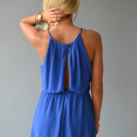 Piace Boutique - Electric Blue Dress in Dresses