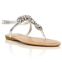 Gem Braided Ankle Strap Sandals