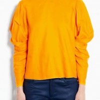 Ava Fluid Poly Oversized Shoulder Top by Acne