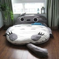 Leyou Totoro Design Bigsofa 2.7x1.7m Totoro Bed Totoro Double Bed Totoro Sleeping Bag
