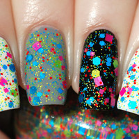 Technicolor Noise - Neon Glitter Nail Polish 15ml (.5oz)