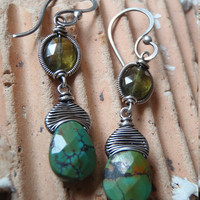 Green Volcano Earrings