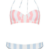 Pink Stripe Underwired Bikini