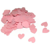 Paper Heart Confetti - 200 Pink Hearts for Parties and Weddings