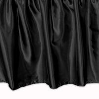Wake Up Frankie - Satin Bedskirt - Black : Teen Bedding, Pink Bedding, Dorm Bedding, Teen Comforters