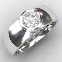 0.50ct certificated Diamond ring, white gold, bezel ring, diamond wedding band, wide, mens diamond band, commitment, unique, mens wedding