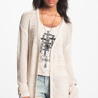 Rubbish Open Weave Cardigan (Juniors) | Nordstrom