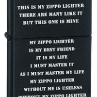 Amazon.com: Zippo Creed Black Matte Pocket Lighter: Sports & Outdoors