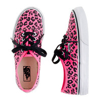 Girls&#x27; Vans authentic leopard print sneakers