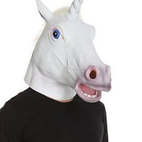 White Unicorn Mask - 10004591