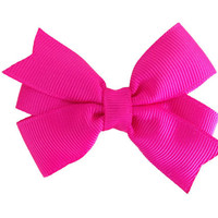Absolutely adorable 3 inch pink hair bow - hot pink bow