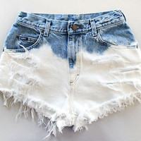 Bleached shorts by TakeItHigh on Etsy