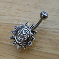 Belly button ring - Body Jewelry - Sun belly ring