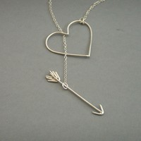 Heart and Arrow Necklace - lolobu