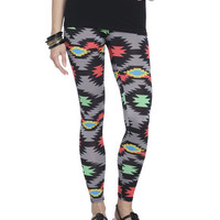 Bright Tribal Print Legging | Shop Active at Wet Seal