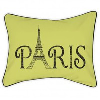 Wake Up Frankie - Paris Nights Standard Sham - Paris (Au Pear) - 50% off! : Teen Bedding, Pink Bedding, Dorm Bedding, Teen Comforters