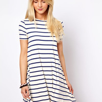ASOS Swing Dress In Stripe Print at asos.com
