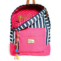 Paul&#x27;s Boutique Libby Striped Backpack with Badges at asos.com