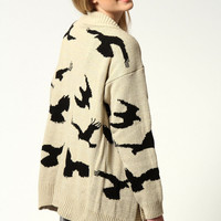 Katie Bird Print Cardigan