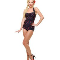 Amazon.com: Esther Williams Vintage Swimsuit 50's Style Pin Up Dot Bathing Suit: Clothing