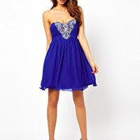 Little Mistress Skater Dress With Embellishment at asos.com