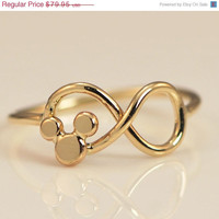 ON SALE Mickey Mouse Ring - Disney Ring - Disney Jewelry - Mickey Mouse Jewelry - Infinity Ring - Infinity Jewelry
