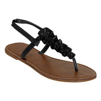 Ruffle T-Strap Sandal | Shop Junior Clothing at Wet Seal