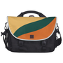 Beeswax, Teal, Tangerine Tango Graphic Art Pattern Laptop Commuter Bag from Zazzle.com
