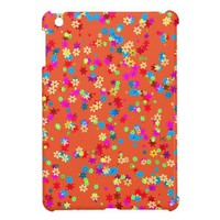 Yellow, Red, Blue, Green, Purple Flower. Tangerine iPad Mini Cases from Zazzle.com