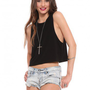 Hailey Crop Tank - Black - What's New | GYPSY WARRIOR