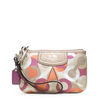 Coach :: Madison Diagonal Op Art Small Wristlet