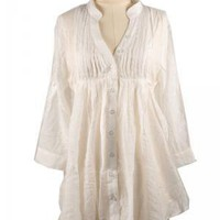 Southern Comfort Off-White Blouse