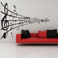 Music Line of Notes- Decal, Vinyl, Sticker, Music, Home Decor, Treble
