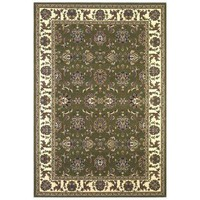 Kas Rugs Traditional Kashan Green/Ivory 5 ft. 3 in. x 7 ft. 7 in. Area Rug-CAM731453X77 at The Home Depot