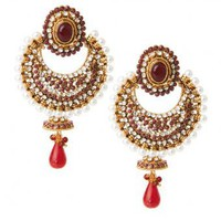 Padma Earrings - INDIAN BAZAAR Padma Earrings
