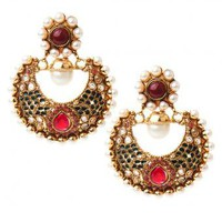 Lakshmi Earrings - INDIAN BAZAAR Lakshmi Earrings