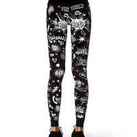 Comic Graphic Leggings | FOREVER 21 - 2077772463