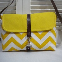 Yellow & White Chevron and  Mustard by maycascollection on Etsy