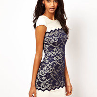 Hybrid Dress with Lace Overlay