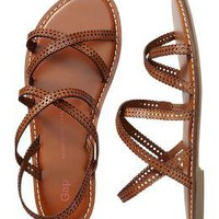 Perforated multi-strap sandal | Gap